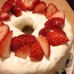 なかしましほさんの簡単シフォンケーキで、4歳児のお誕生日ケーキ♪